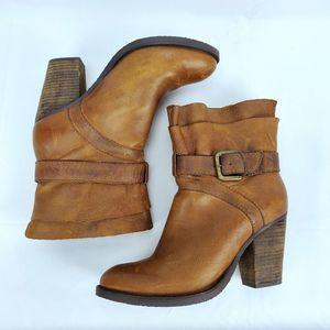 Steven by Steve Madden Riskey Leather Boots 7.5